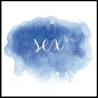 Bordsnummer akvarell blå 6