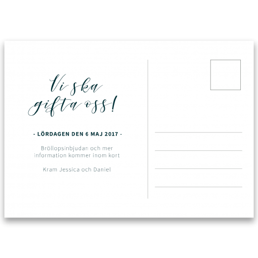 save the date kort