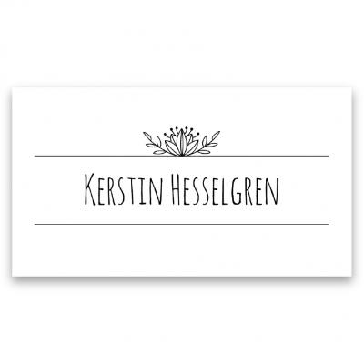 placeringskort till bröllop vintage typo