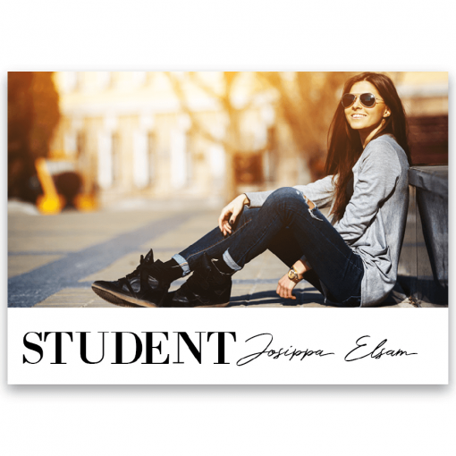 Inbjudningskort Student nr. 4 Hollie1
