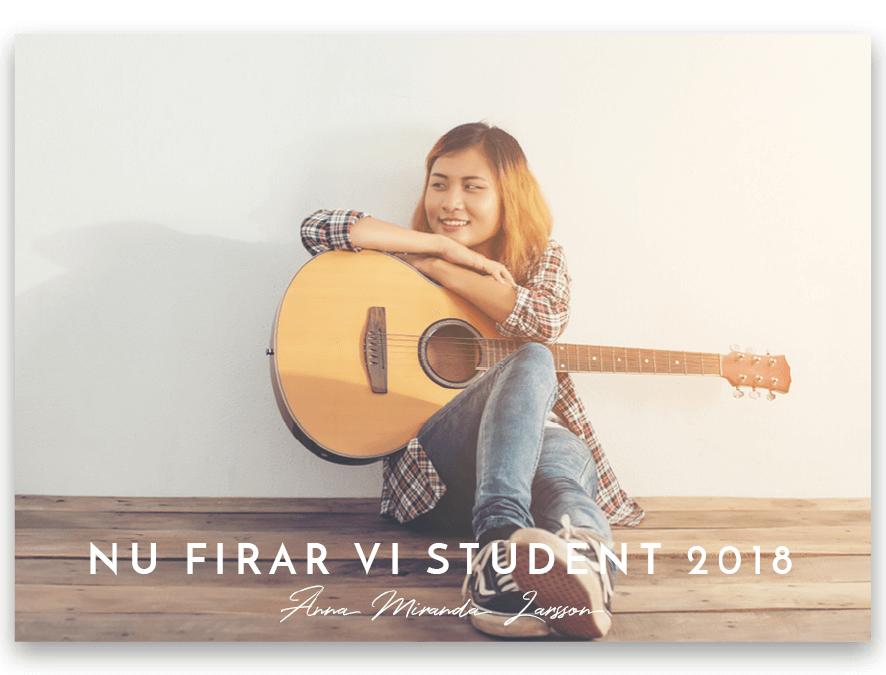Inbjudningskort Student Josefin
