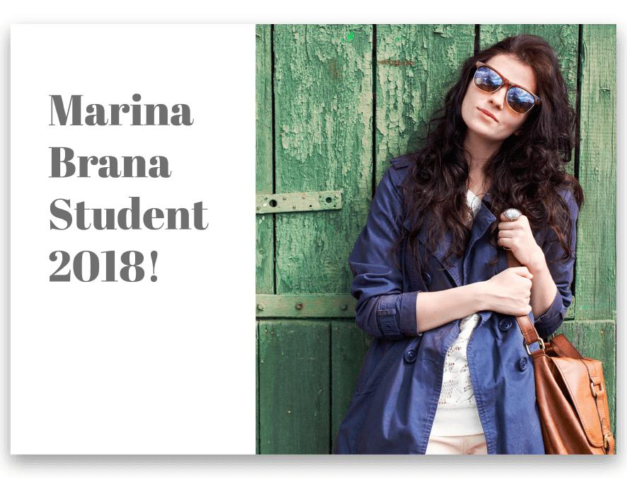 Inbjudningskort student Elsa