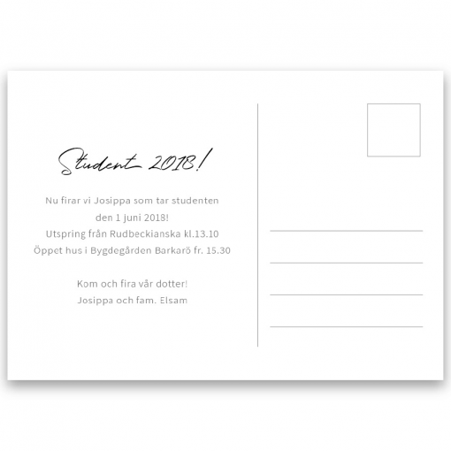Inbjudningskort student nr. 4 Hollie2