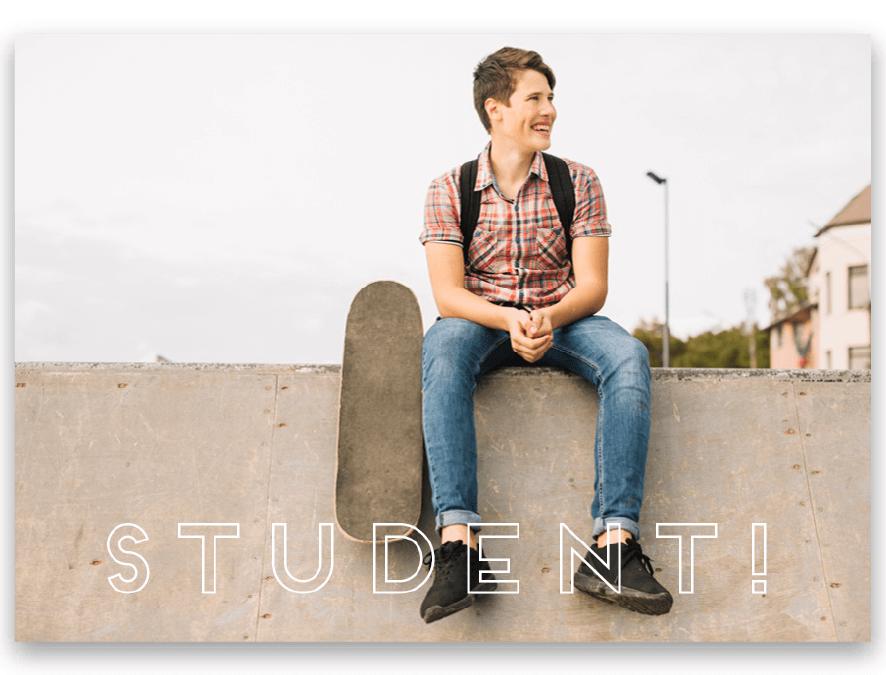 Inbjudningskort Student Otto