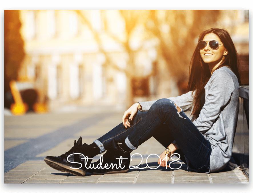 Inbjudningskort Student Sally