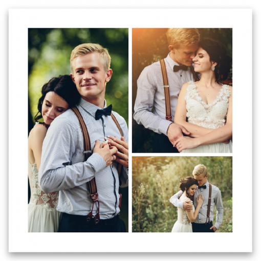 tackkort bröllop blush white med rosor