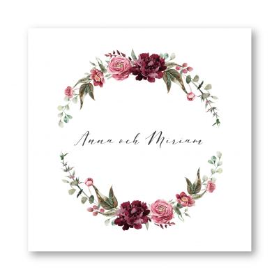 tackkort bröllop dahlia